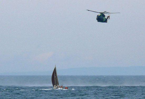 Rettung eines Seenotfalls