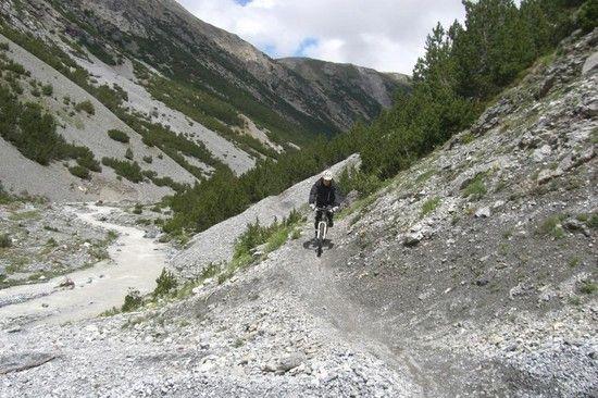 d Anspruchsvolle Abfahrt Val Mora