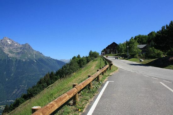 Serpentinen nach Alpe d' Huez