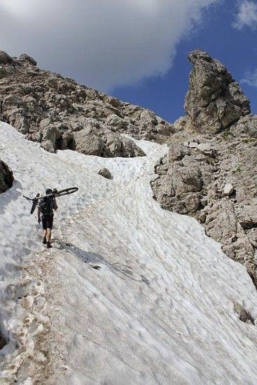 Erschwerte Bedingungen kurz vor dem Gipfel