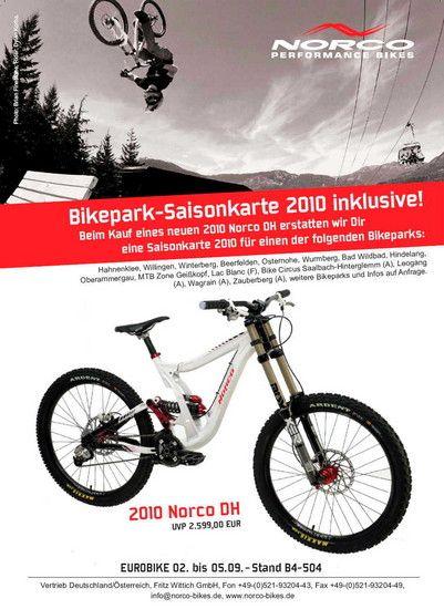 NORCO 2010: DH Bike inklusive Bikepark-Saisonkarte