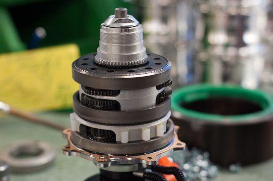 Das fertige Getriebe vor Montage im Gehäuse