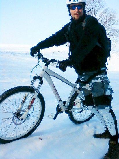 mit dem Hardy #1 im Schnee