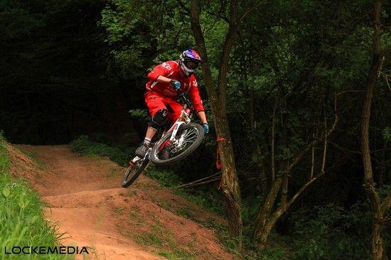 Patrick Boxberger am ersten Jump zur Wiese