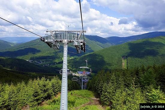 Ausblick auf das Jeseniky Gebirge SET #1 Kouty