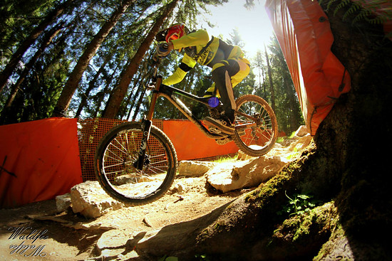 Downhill Action in Leogang