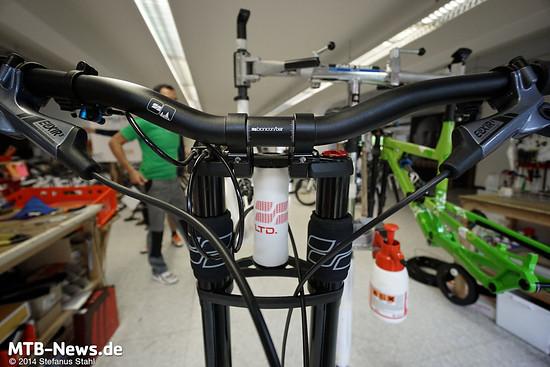 Bionicon macht viel selbst: Rahmen, Gabeln, Vorbauten, Lenker,...