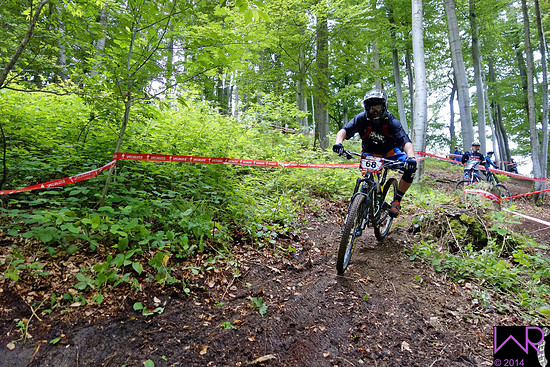 Sieger Pro Men Willingen 2014 Joseph Nation haengendes Steilstueck Stage 3
