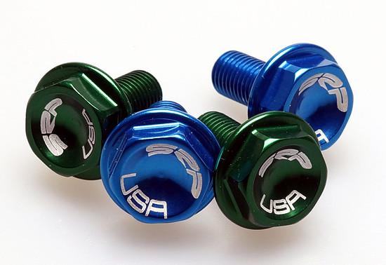 SRP Crank Bolts blue green NOS