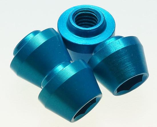 Tune brake pad nuts M6 NOS turquoise