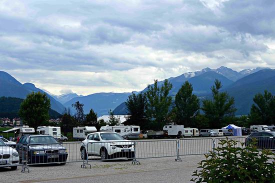 Campsite vor der Kronplatzseilbahn