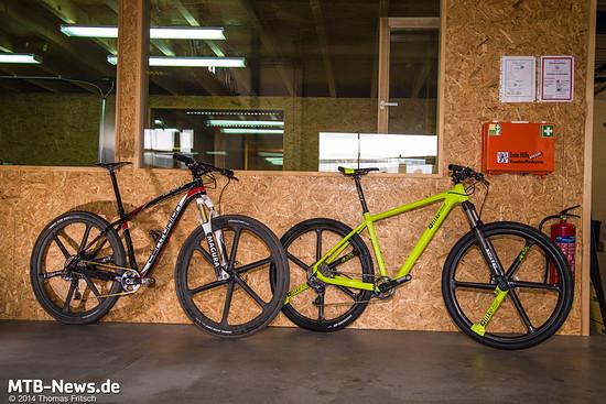 Durch die exklusiven Laufräder fällt jedes Fahrrad sofort ins Auge.