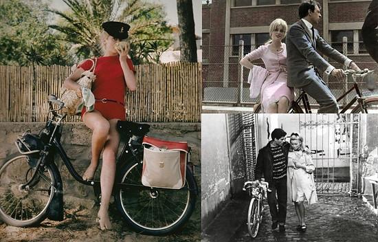 Catherine Deneuve bicycle