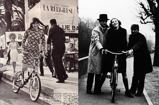 Anna Karina bicycle