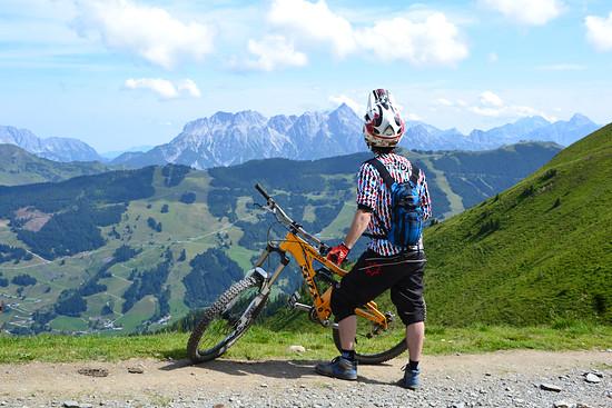 Super Aussicht beim Aufstieg zum Hacklbergtrail...