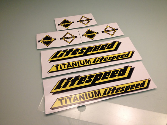 Litespeed Decals