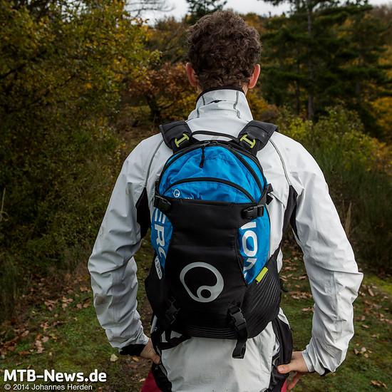 Ergon bietet auch beim BA3 Evo die drehbaren Schultergurte sowie einen in der Länge verstellbaren Rücken des Rucksacks.