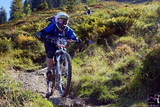 Antje Kramer im Ausgang des Steilstücks auf Stage 3