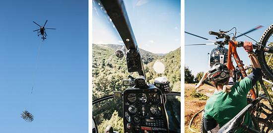 Mit dem Helikopter ging es in die Richmond Mountain Ranges