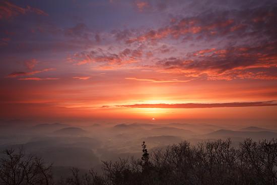 Sonnenuntergang über der Pfalz