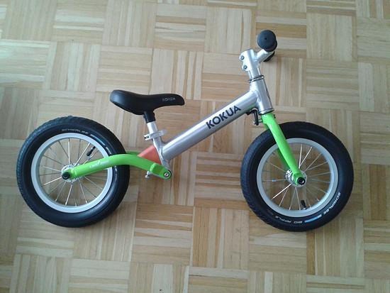 Die Ausgangsbasis: Das Kokua Jumper Laufrad wie vom Hersteller geliefert