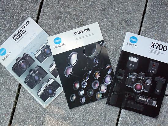 Minolta brochures eighties large