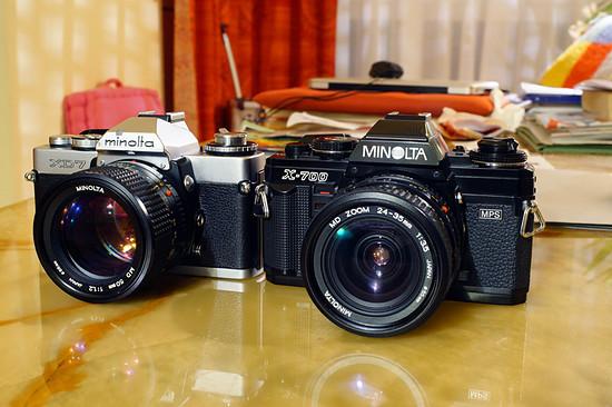 Minolta X700 und XD7