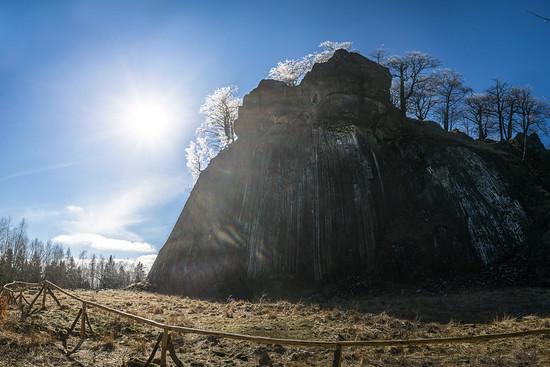 Vereisste Bäume auf dem Zlatý vrch