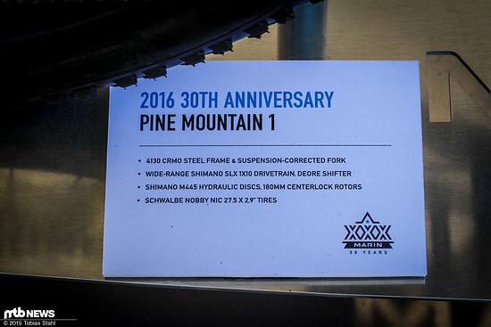 Marin 2016 30th Anniversary Pine Mountain 1
