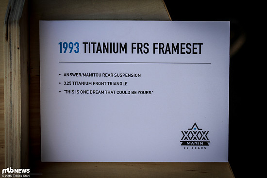 Marin Titan FRS Frameset - Info