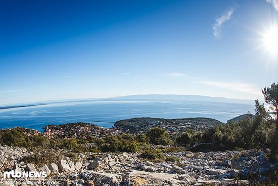 Blick auf Veli Losinj, einem wunderschönen Küstenstädchen auf der Südost-Seite der Insel.