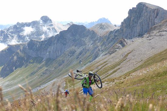 Tragepassage zum Monte Bellino.