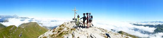 Gipfelsturm auf den Monte Tibert.