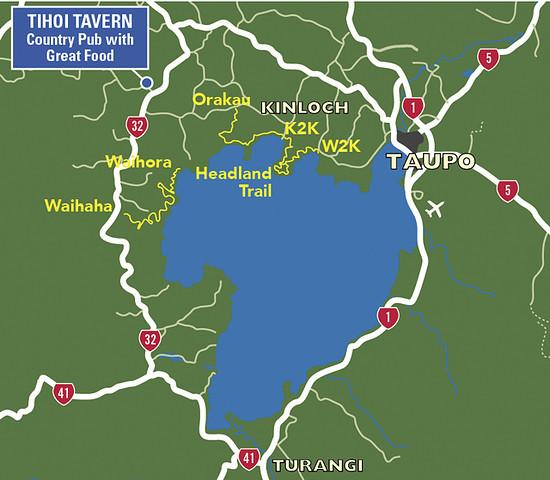 Karte: die zwei Segmente des Great Lake Trail