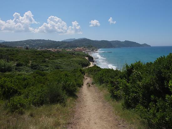 Singletrail auf Korfu