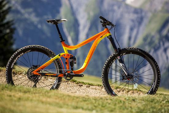 Mein Test-Bike: Ein Giant Reign 27.5 mit 160 mm am Maestro Link Hinterbau
