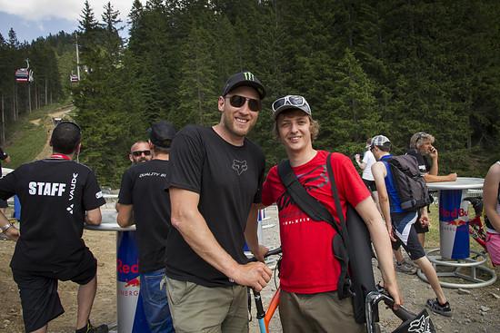 Steve Peat und ich