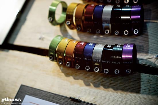 9 Eloxal-Farben stehen zur Auswahl