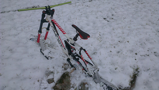 erste Versuche bei gerimgem Schnee