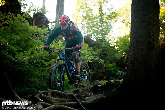 Monkeycycles TheStretcher im Einsatz im Bikepark Winterberg