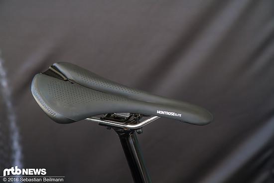 ...die Pro Version hat Carbon-Rails, die Comp Version muss mit Stahlstreben auskommen