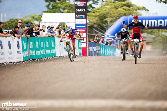 Packendes Sprintfinish im Rennen der U23 in Cairns