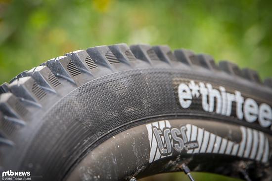 Die Enduro-Karkasse sollen dem Reifen gute Dämpfung, Stabilität und Pannensicherheit geben