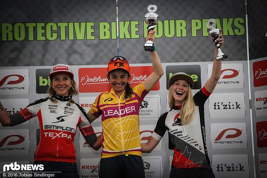 Die Gesamtwertung bei den Damen blieb unverändert: Sierra vor Anette Griner und Regina Genser