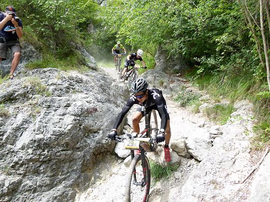 Downhillschiebepassage bei Trento, ...