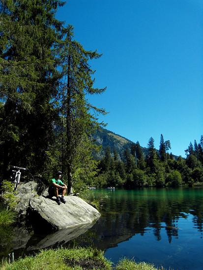 Kleine Pause am Crestasee