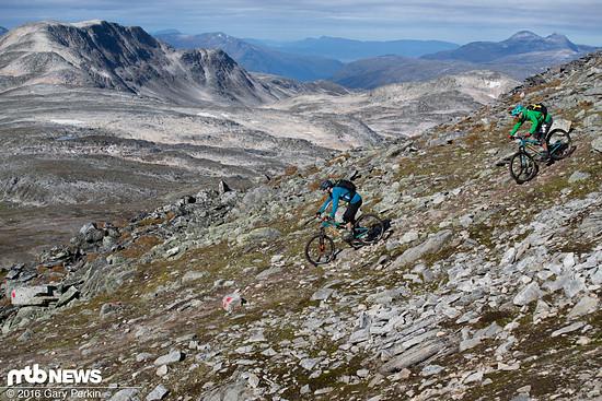 Es ist schon schwierig genug sich auf den Trail statt auf die Landschaft zu konzentrieren