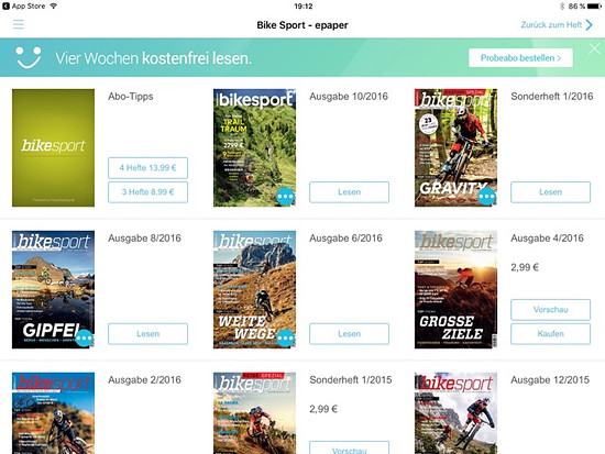 Bikesport iPad App