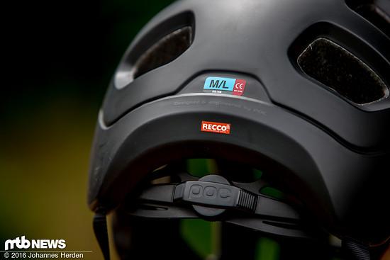 Der POC Tectal verfügt über einen integrierten RECCO-Reflektor