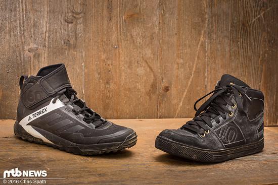 Die Konkurrenten - Adidas Terrex Trail Cross Protect im Duell gegen Five Tens Freerider High